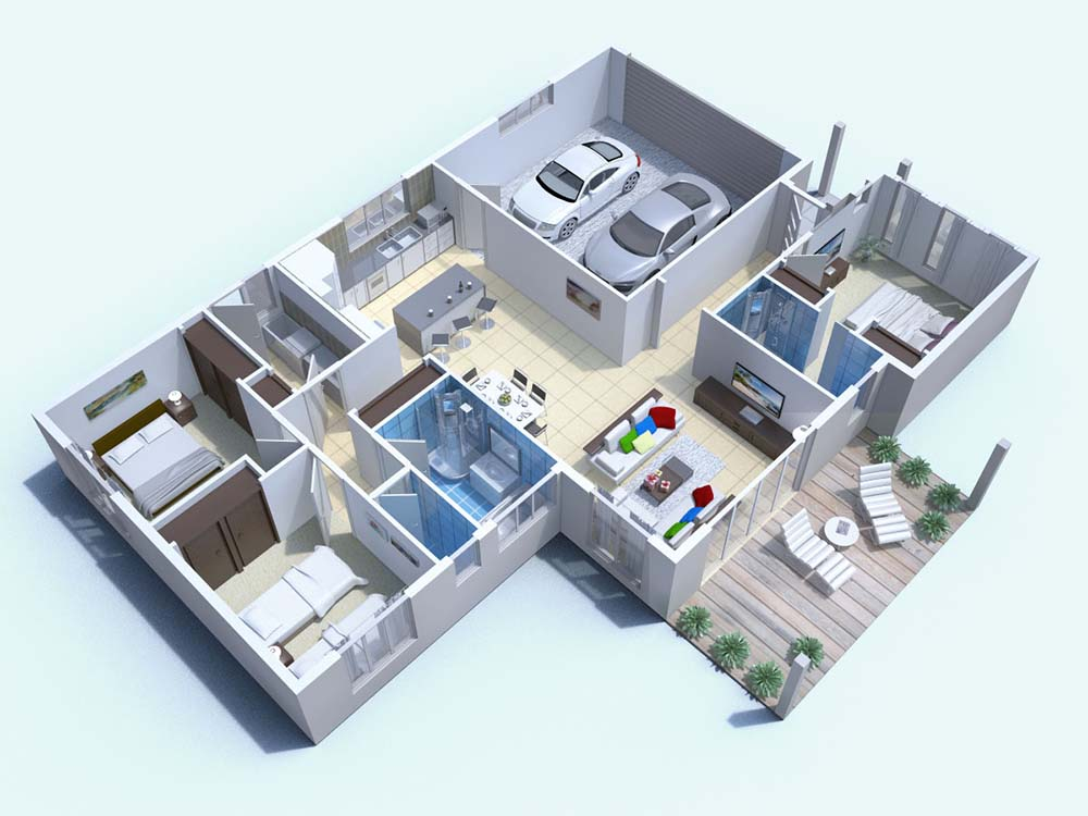 3d rendering floor plan home