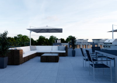 townhouse rooftop 3d rendering
